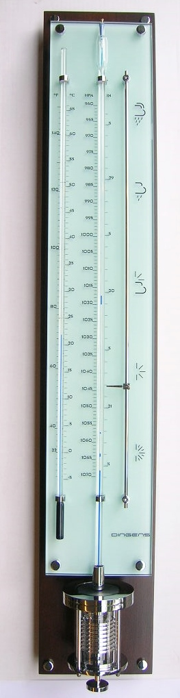 Innovacelli barometer IN708 noten/chroom