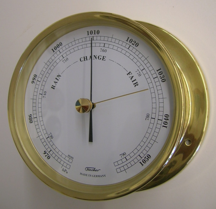 TP Scheepsbarometer messing